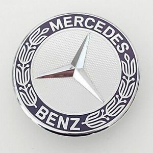 For Mercedes Benz Flat Mount Hood Emblem Badge Ornament Logo 2048170616 57mm New