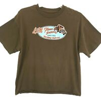 L & M Fleet Supply Graphic Tee T-Shirt Mens Size L Large Brown Short Sleeve Crew