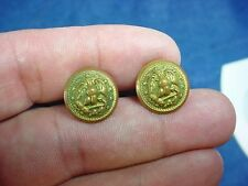 Pair WWII USN Eagle Chin Strap Buttons & Screw Plates US Navy Officers Visor Hat