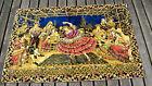 "HUGE vintage Rug Tapestry Spanish Dancer Flamenco & Band Wall Hanging Art 72x49"""