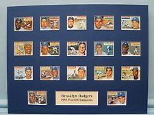 Brooklyn Dodgers led by Jackie Robinson  -  1955 World Series Champions