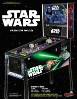 Star Wars Premium Edition Pinball FLYER Original NOS Stern Artwork Space Sci-Fi