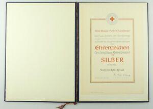e12347 Original Urkunde für Ehrenzeichen des Deutschen Roten Kreuzes Silber 1959