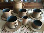 Irma Yourstone Mid-century Brown Ceramic Tea Coffee set Nordic Sweden design