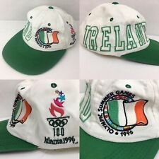 Vintage 1996 Atlanta Olympics IRELAND Starter Snapback Hat Irish Flag Green