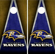 Baltimore Ravens Cornhole Wrap Skin Board NFL Sports Vinyl Decal GC74