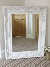 94cm French Baroque Rococo White Frame Antique Ornate Wall Mounted Large Mirror
