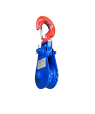New 2 Ton 3 Snatch Block Wire Rope Cable Pulley Roll Back Wrecker Recovery
