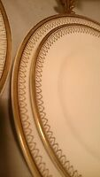 ALFRED MEAKIN PLATES 5 PC LOT PORCELAIN PLATES WHITE w/ Gold  dinner, luncheon