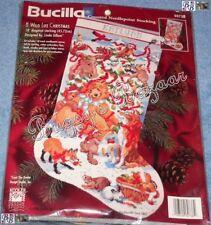 Bucilla A WILD LIFE CHRISTMAS Stocking Counted Needlepoint Kit -L Gillum - 60738