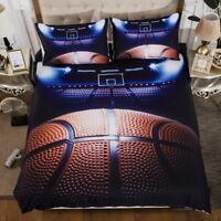 3D Sports Basketball Bedding Set Duvet Cover Pillowcase Comforter Cover Set 3PCS