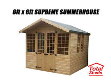 8 x 6 SUPREME SUMMER HOUSE LOG CABIN OFFICE BAR SHED TOP QUALITY GRADED TIMBER