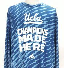 ADIDAS UCLA BRUINS CLIMALITE SHIRT JERSEY Blue CHAMPIONS MADE HERE Mens 2XL $70