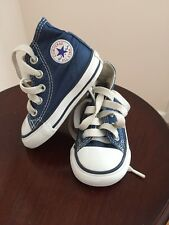 Unisex Converse Chuck Taylor Blue High Top Tennis Shoes Size 3 EUC Super Cute