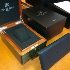 PIERRE KUNZ LADY WATCH BOX AND OUTER - HEAVY WOODEN BOX - UNUSED. MA51
