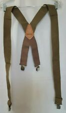 "Craftsman Suspenders 2"" Wide Support Straps Adjustable Brown"