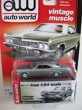 ' 66 CHEVROLET IMPALA Light-Green 1966 ** RR ** Auto World Muscle 1:64