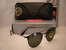 Ray Ban 3546 Matte Black w Green Crystal (G-15) Lens (RB3546 186 52 mm size)