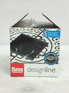 OATEY DesignLine 4 in. x 4 in. Square Shower Drain Grate Stainless - Matte Black
