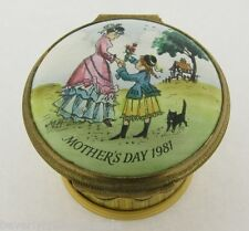 Signed Halcyon Days Enamel Mother's Day Box 1981