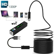 8LED WiFi Endoscope Borescope Rigid Wire 8mm Camera 1200P IP68 For Phone Android