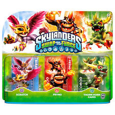 Skylanders Swap Force SCRATCH FRYNO THORN HORN CAMO 3 Pack Xmas Gift Present New