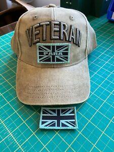 PARA VETERAN'S adjustable baseball cap with patches, 3D Veteran's sign