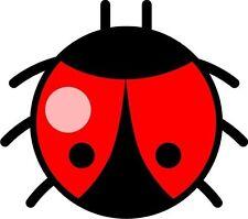 Coccinelle lady bird lady bug sticker autocollant étiquette en vinyle graphique V2