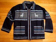 Artesania Landa Full Zip Jacket ~ 100% Wool ~ Small  size S~ Hand Made in Peru