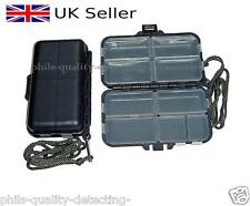 Metal Detecting, 9 x Compartments Small Finds Box + Lanyard Cord. Very Tough.NEW