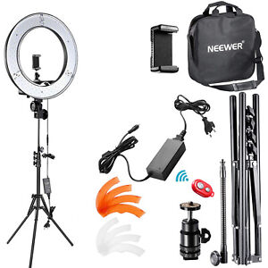 """Neewer LED Ring Light 14"""" with Light Stand, Soft Tube, Filter and Carrying Bag"""