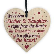 Mother Daughter Keepsake Wooden Heart Gift For Mum Daughter Birthday Christmas