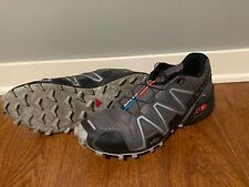 Used Salomon Speedcross 3 Trail Running Shoes Men's Size 12 Grey Ex Cond