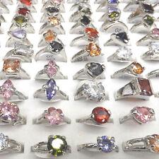 Multicolor Zirconia Rings Imitation Diamond Rings 50pcs Mix Model