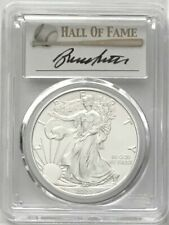 2020 SILVER EAGLE FIRST DAY OF ISSUE BASEBALL HOF PCGS MS70 BRUCE SUTTER SIGNED
