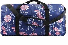 Women's Weekender Duffel Bag with Shoe Pocket, Navy Floral