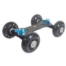 Table Top Dolly Car Skater Track Slider Mute for DSLR Camera Camcorder (Black)BT