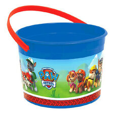Paw Patrol Puppy Rescue Dogs Party Plastic Loot Treat Favor Bucket Container