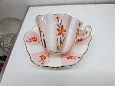 Royal Stuart Spencer Stevenson Bone China Tea Cup & Saucer Pink Painted Flowers