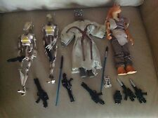 LOT of 4 STAR WARS Hasbro DOLL 12 Inch ACTION FIGURES Toy SET PLUS GUNS