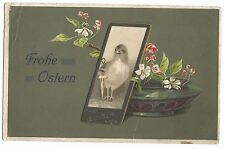 Frohe Ostern PPC, Steyr, 1907 Austria PMK  Easter Card to Hollick, Foleshill Rd