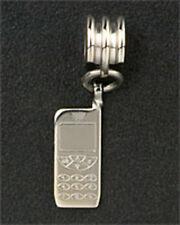 Cell Phone Dangle Charm European Bead Bracelet Stainless Steel Christmas Gifts