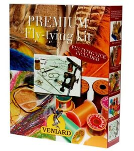Veniard Premium Fly Tying Kit Vice Tools Hooks etc Ties 1000s of Flies Fishing