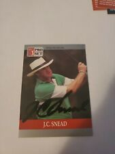 J.C. Snead #99 1990 Pro Set PGA Tour Golf Special Inaugural AUTOGRAPHED