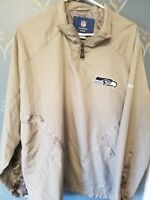 NFL Seattle Seahawks Reebok On Field Jacket Size Large L Gray