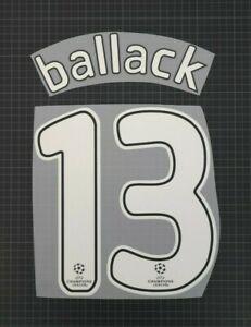 BALLACK #13 2008-2009 Player Size Champions League Nameset Plastic Chelsea