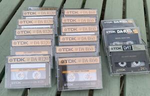 16 X TDK DA-R 120. DA-R60. DA-RXG90 & DA-R180 DAT. Digital Audio Tape. Used.