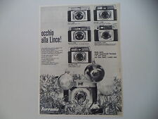 advertising Pubblicità 1963 FERRANIA LINCE 3/SUPER T/3 S/SUPERMATIC