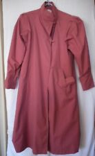 Vintage 1980s 1990s  Mauve Size 9 Long Fully Lined overcoat Trench Rain coat