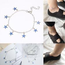 1Pc Women Blue Luminous Star Anklet Bracelet Chain Jewelry Decor Acces Gift
